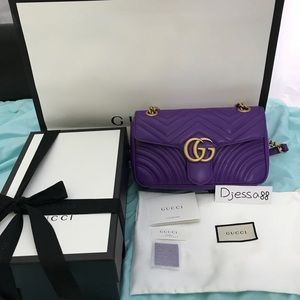 Brand New GUCCI SMALL MARMONT FLAP IN SEASONAL 💜